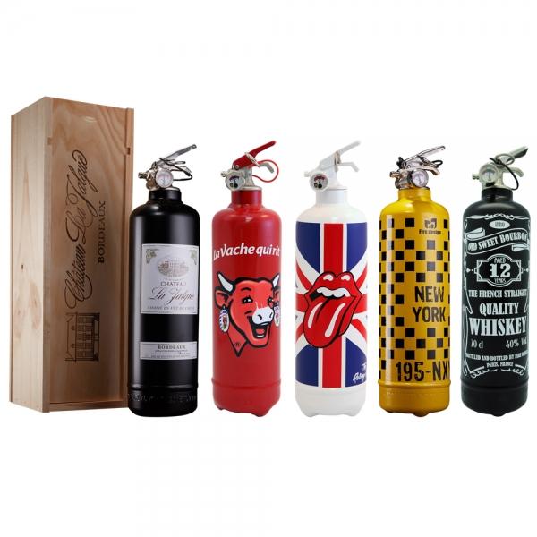 achat extincteur design customis fire design pas cher. Black Bedroom Furniture Sets. Home Design Ideas
