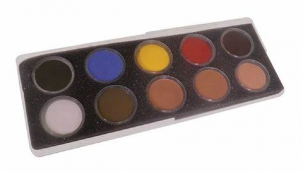 Fards pour maquillage de secourisme - Palette rechargeable 10 couleurs