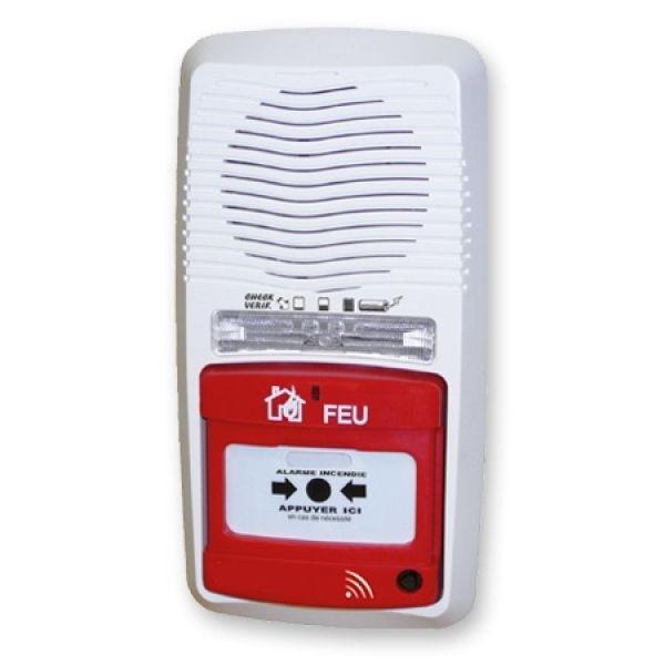 achat alarme type 4 radio avec flash lumineux pas cher. Black Bedroom Furniture Sets. Home Design Ideas