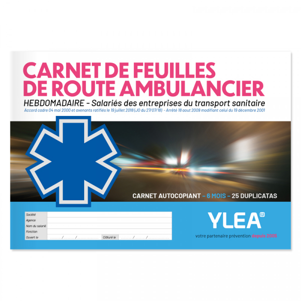 Carnet de feuille de route ambulancier