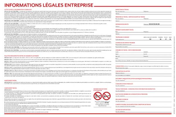 Achat affichage obligatoire code du travail pas cher for Affichage obligatoire garage